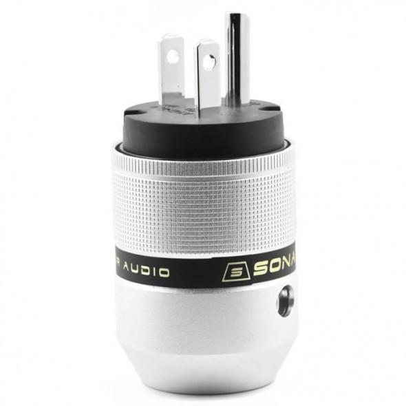 SonarQuest P25-P(B) Aluminum Alloy Rhodium Plated Audio Grade AC Power Plug Connector