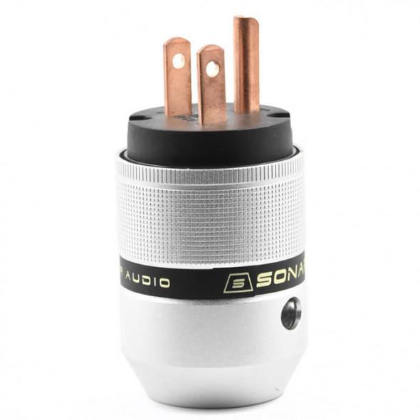 SonarQuest P25-R(B) Aluminum Alloy Red Copper Series Audio Grade AC Power Plug Connector