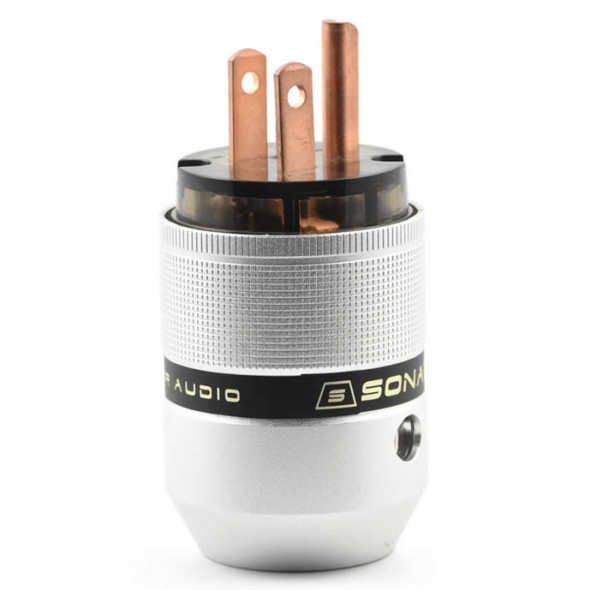 SonarQuest P25-R(D) Aluminum Alloy Red Copper Series Audio Grade AC Power Plug Connector