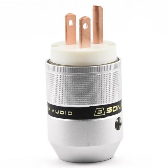SonarQuest P25-R(W) Aluminum Alloy Red Copper Series Audio Grade AC Power Plug Connector