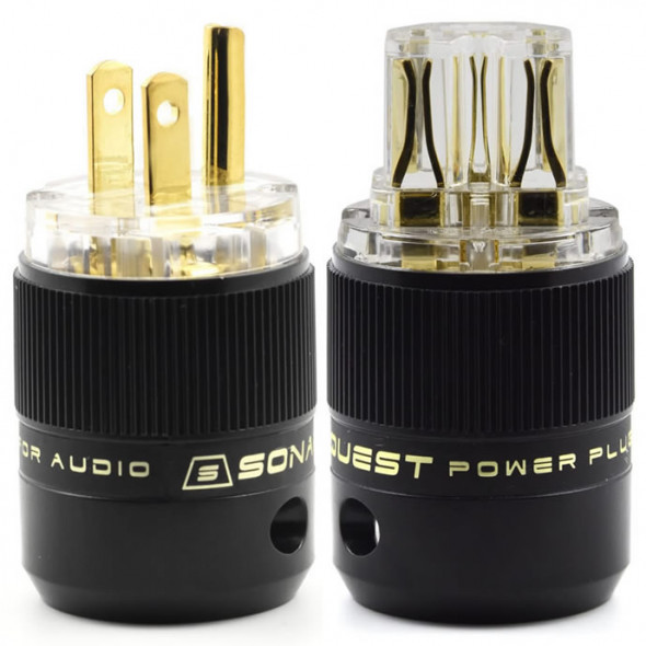 SonarQuest SE-GP(T) & SE-GC(T) Gold Plated Series HiFi Audio Grade AC Power Plug Connector