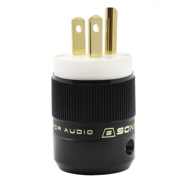SonarQuest SE-GP(W) Gold Plated Series HiFi Audio Grade AC Power Plug Connector