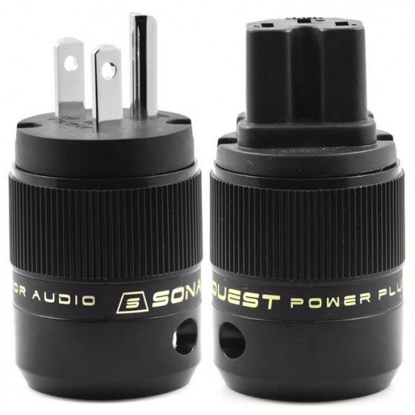 SonarQuest SE-PP(B) & SE-PC(B) Rhodium Plated Series HiFi Audio Grade AC Power Plug Connector