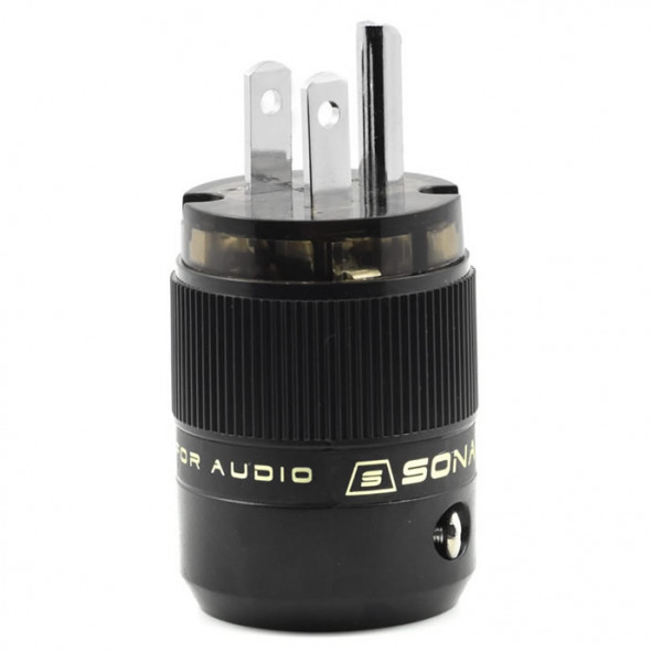 SonarQuest SE-PP(D) Rhodium Plated Series HiFi Audio Grade AC Power Plug Connector