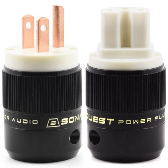 SonarQuest SE-RP(W) & SE-RC(W) Red Copper Series HiFi Audio Grade AC Power Plug Connector