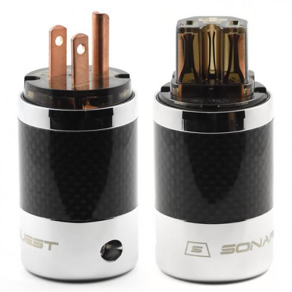SonarQuest SQ-P39(C)D & SQ-C39(C)D Carbon Fiber Edition Red Copper Series High End AC Power Plug Connector