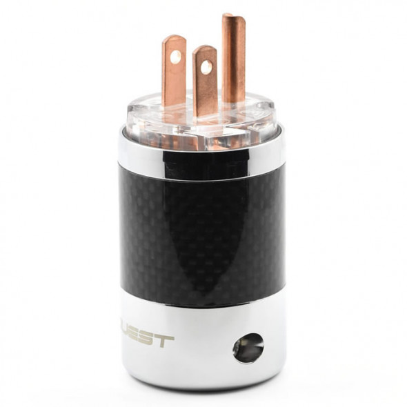 SonarQuest SQ-P39(C)T Carbon Fiber Edition Red Copper Series High End AC Power Plug Connector