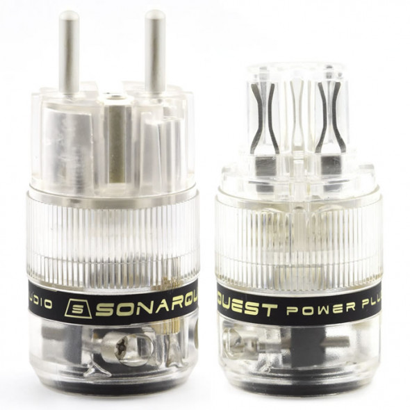 SonarQuest ST-AgE(T) & ST-AgC(T) CRYO AG Silver Plated Series Audio Grade EU Schuko Power Plug Connector