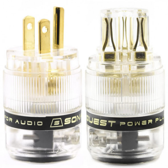 SonarQuest ST-GP(T) & ST-GC(T) Gold Plated Series HiFi Audio Grade AC Power Plug Connector