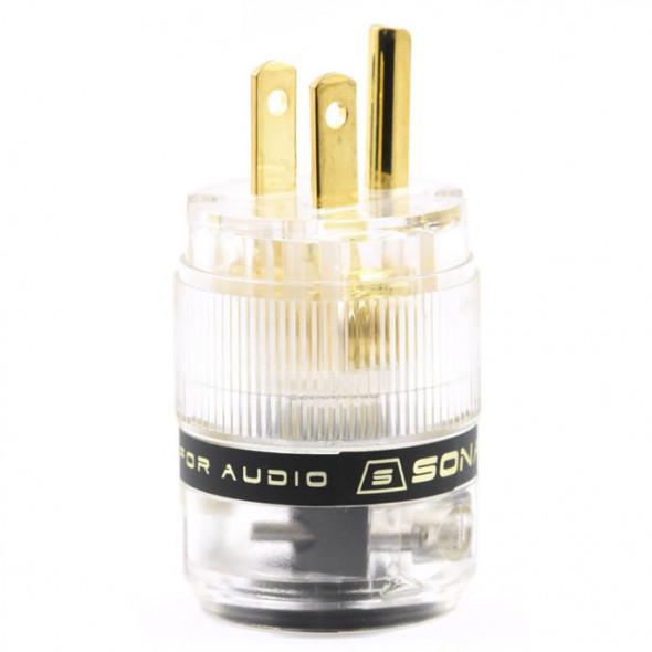 SonarQuest ST-GP(T) Gold Plated Series HiFi Audio Grade AC Power Plug Connector