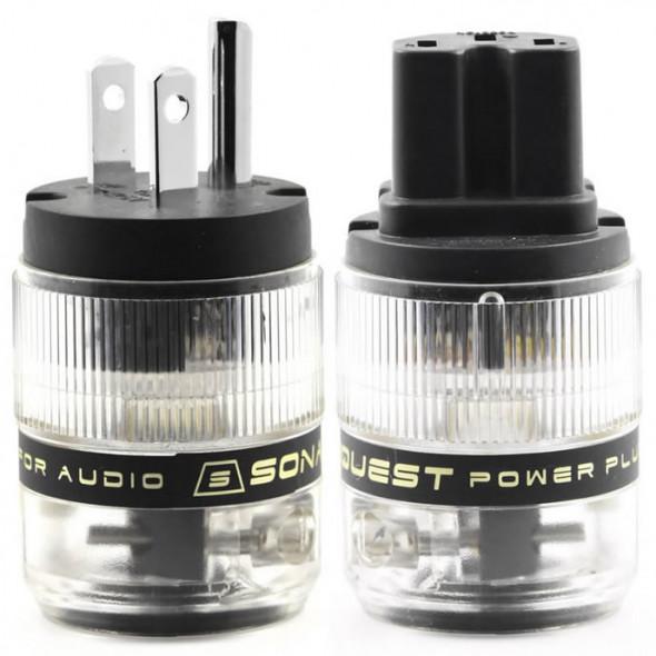 SonarQuest ST-PP(B) & ST-PC(B) Rhodium Plated Series HiFi Audio Grade AC Power Plug Connector