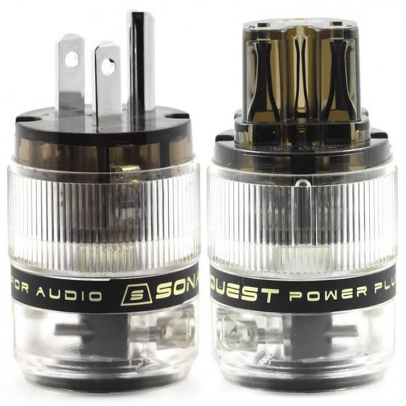 SonarQuest ST-PP(D) & ST-PC(D) Rhodium Plated Series HiFi Audio Grade AC Power Plug Connector
