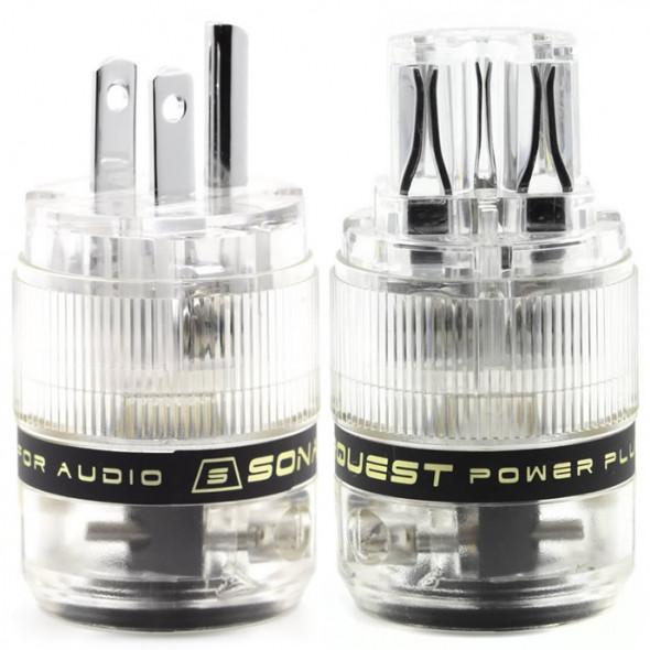 SonarQuest ST-PP(T) & ST-PC(T) Rhodium Plated Series HiFi Audio Grade AC Power Plug Connector