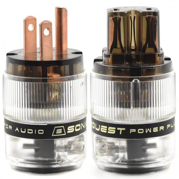 SonarQuest ST-RP(D) & ST-RC(D) Red Copper Series HiFi Audio Grade AC Power Plug Connector