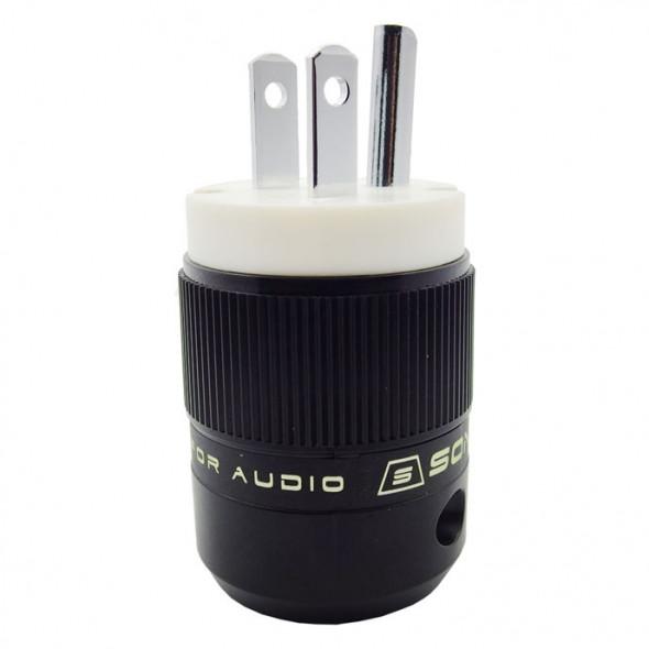 SonarQuest SE-PP(W) Rhodium Plated Series HiFi Audio Grade AC Power Plug Connector