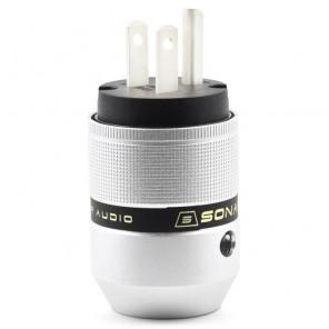 SonarQuest P25-Ag(B) Aluminum Alloy CRYO AG Silver Plated Audio Grade AC Power Plug Connector