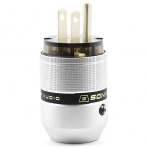 SonarQuest P25-Ag(D) Aluminum Alloy CRYO AG Silver Plated Audio Grade AC Power Plug Connector