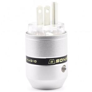 SonarQuest P25-Ag(T) Aluminum Alloy CRYO AG Silver Plated Audio Grade AC Power Plug Connector