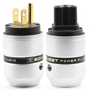 SonarQuest P25-G(B) & C25-G(B) Aluminum Alloy Gold Plated Audio Grade AC Power Plug Connector