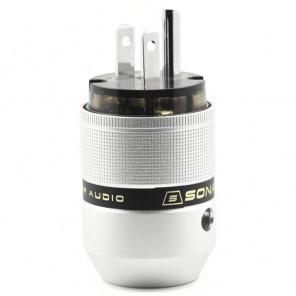 SonarQuest P25-P(D) Aluminum Alloy Rhodium Plated Audio Grade AC Power Plug Connector