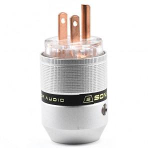 SonarQuest P25-R(T) Aluminum Alloy Red Copper Series Audio Grade AC Power Plug Connector