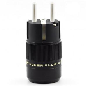 SonarQuest SE-AgE(B) CRYO AG Silver Plated Series Audio Grade EU Schuko Power Plug Connector