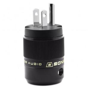SonarQuest SE-PP(B) Rhodium Plated Series HiFi Audio Grade AC Power Plug Connector