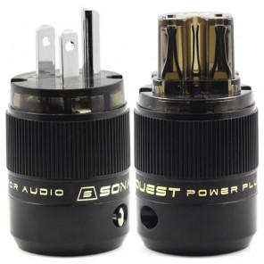 SonarQuest SE-PP(D) & SE-PC(D) Rhodium Plated Series HiFi Audio Grade AC Power Plug Connector