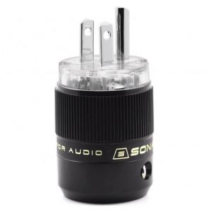 SonarQuest SE-PP(T) Rhodium Plated Series HiFi Audio Grade AC Power Plug Connector