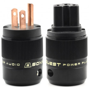 SonarQuest SE-RP(B) & SE-RC(B) Red Copper Series HiFi Audio Grade AC Power Plug Connector