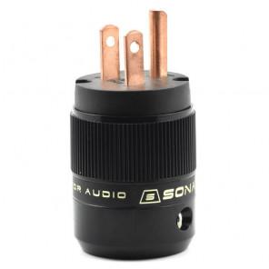 SonarQuest SE-RP(B) Red Copper Series HiFi Audio Grade AC Power Plug Connector