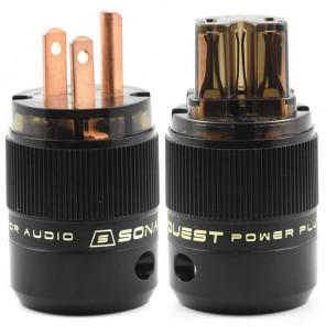 SonarQuest SE-RP(D) & SE-RC(D) Red Copper Series HiFi Audio Grade AC Power Plug Connector