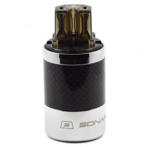 SonarQuest SQ-C39(Ag)D Carbon Fiber Edition CRYO AG Silver Plated Series Hi-End IEC AC Power Plug Connector