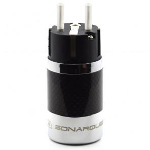 SonarQuest SQ-E39(Ag)B Carbon Fiber Edition CRYO AG Silver Plated Series Hi-End EU Schuko Power Plug Connector