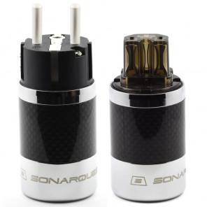 SonarQuest SQ-E39(Ag)D & SQ-C39(Ag)D Carbon Fiber Edition CRYO AG Silver Plated Series Hi-End EU Schuko Power Plug Connector