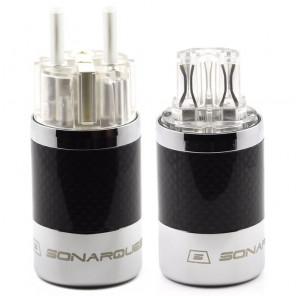 SonarQuest SQ-E39(Ag)T & SQ-C39(Ag)T Carbon Fiber Edition CRYO AG Silver Plated Series Hi-End EU Schuko Power Plug Connector