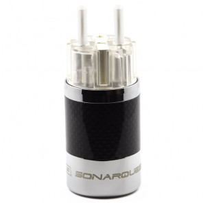 SonarQuest SQ-E39(Ag)T Carbon Fiber Edition CRYO AG Silver Plated Series Hi-End EU Schuko Power Plug Connector