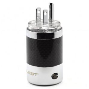 SonarQuest SQ-P39(R)T Carbon Fiber Edition Rhodium Plated Series High End AC Power Plug Connector