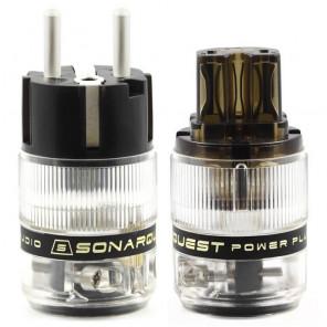 SonarQuest ST-AgE(D) & ST-AgC(D) CRYO AG Silver Plated Series Audio Grade EU Schuko Power Plug Connector
