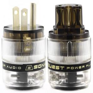 SonarQuest ST-AgP(D) & ST-AgC(D) CRYO AG Silver Plated Series Audio Grade AC Power Plug Connector