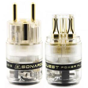 SonarQuest ST-GE(T) & ST-GC(T) Gold Plated Series Audio Grade EU Schuko Power Plug Connector