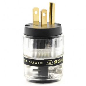 SonarQuest ST-GP(B) Gold Plated Series HiFi Audio Grade AC Power Plug Connector