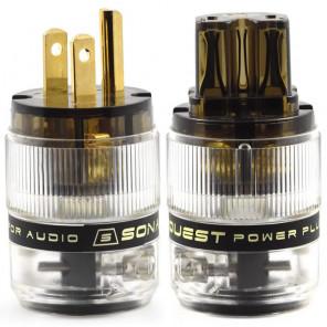 SonarQuest ST-GP(D) & ST-GC(D) Gold Plated Series HiFi Audio Grade AC Power Plug Connector