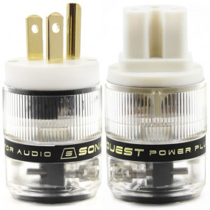 SonarQuest ST-GP(W) & ST-GC(W) Gold Plated Series HiFi Audio Grade AC Power Plug Connector