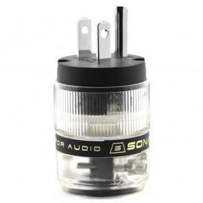 SonarQuest ST-PP(B) Rhodium Plated Series HiFi Audio Grade AC Power Plug Connector