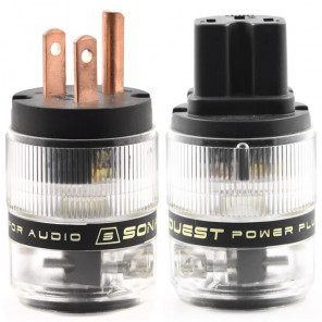SonarQuest ST-RP(B) & ST-RC(B) Red Copper Series HiFi Audio Grade AC Power Plug Connector