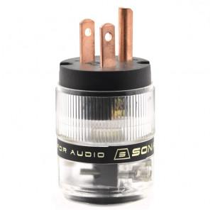 SonarQuest ST-RP(B) Red Copper Series HiFi Audio Grade AC Power Plug Connector