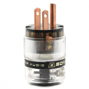 SonarQuest ST-RP(D) Red Copper Series HiFi Audio Grade AC Power Plug Connector