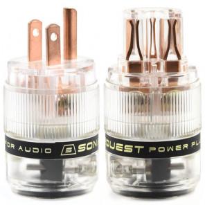 SonarQuest ST-RP(T) & ST-RC(T) Red Copper Series HiFi Audio Grade AC Power Plug Connector