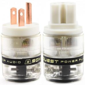SonarQuest ST-RP(W) & ST-RC(W) Red Copper Series HiFi Audio Grade AC Power Plug Connector